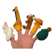 Novica 5 Piece Gifts for Puppeteers Wool Finger Puppet Set