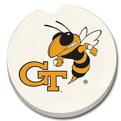 CounterArt NCAA Car Coaster (Set of 2); Georgia Tech WYF078279303953