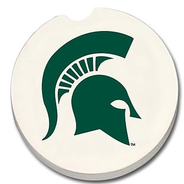 CounterArt NCAA Car Coaster (Set of 2); Michigan State Spartans