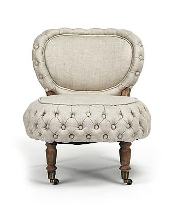 Zentique Sylvie Tufted Slipper Chair