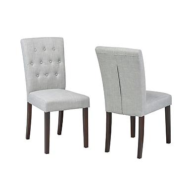 Brassex – Chaise d'appoint 5700, gris, paq./2 (5700-GR)