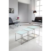Brassex 3-Piece Nesting Table Set, White (CA600)