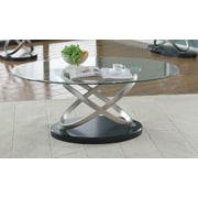 Brassex Chantal Coffee Table, Silver/Black (275-02)