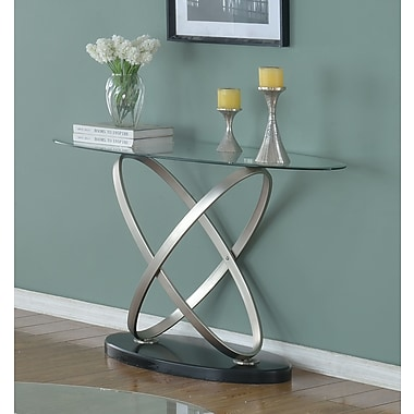 Brassex – Table de salon Chantal, argent/noir (275-08)