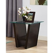 Brassex Tivoli End Table, Espresso (256-06)