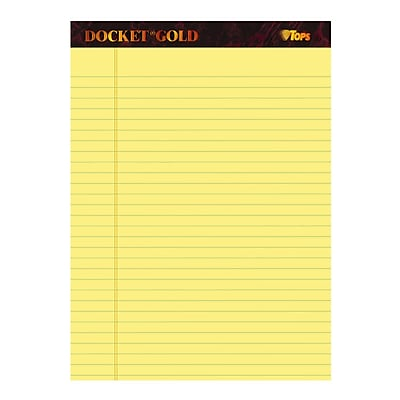 Tops® Docket® Gold Legal Pads; 8-1/2 x 11-3/4
