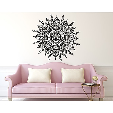 Decal House Mandala Wall Decal; Ice Blue