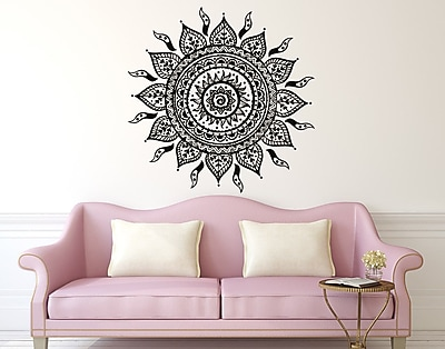Decal House Mandala Wall Decal; Soft Pink
