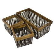 Sagebrook Home Jack Wire Basket (Set of 3)