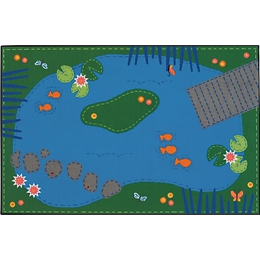 Kids Value Rugs Tranquil Pond Kids Rug; 4' x 6'