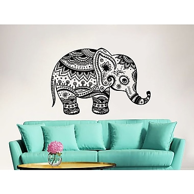 Decal House Elephant Wall Decal; Light Red