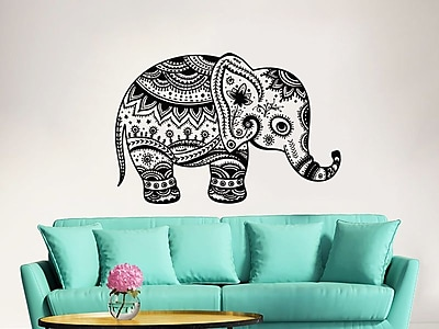 Decal House Elephant Wall Decal; Purple Red