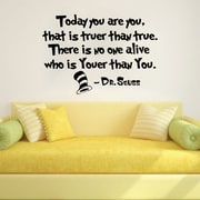 Decal House Dr Seuss Today You Are You That is Truer Than True Wall Decal; Lilac
