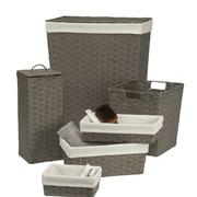 Creative Bath Laundry Hamper and Waste Basket Set