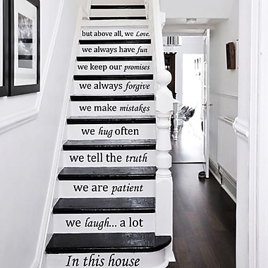 Decal House In This House We Do Stairway Decal; Lime Green