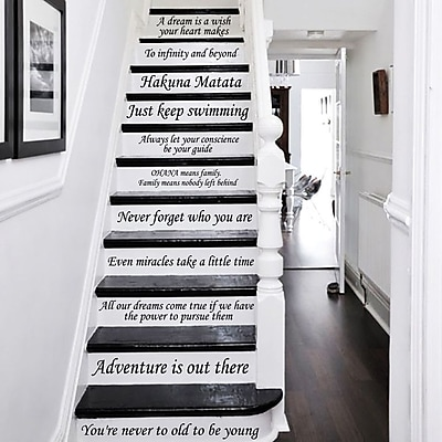 Decal House 13 Steps Stairway Decal; Purple Red
