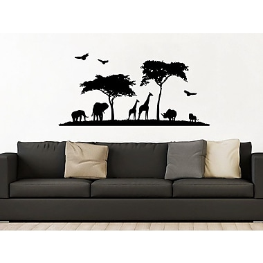 Decal House Safari Animal Wall Decal; Gold