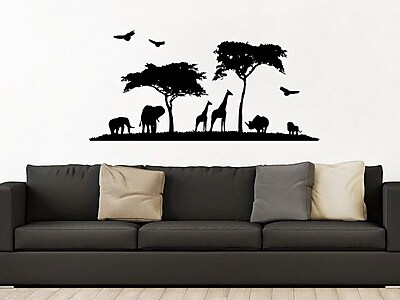 Decal House Safari Animal Wall Decal; Orange