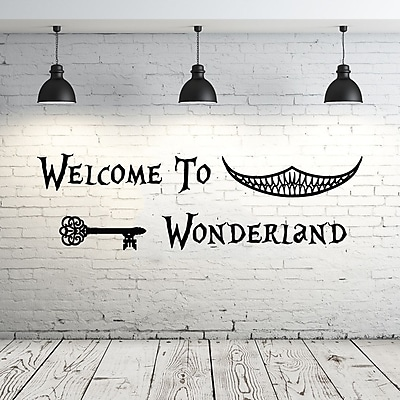 Decal House Alice in Wonderland Welcome to Wonderland Wall Decal; Ice Blue