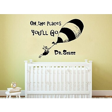Decal House Dr Seuss Oh the Places You'll Go Wall Decal; Sky Blue