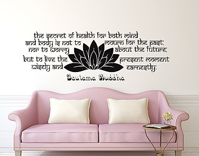 Decal House The Secret of Health Wall Decal; Gold
