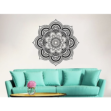 Decal House Mandala Lotus Flower Wall Decal; Ice Blue