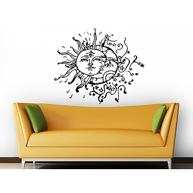 Decal House Sun and Moon Wall Decal; Brown