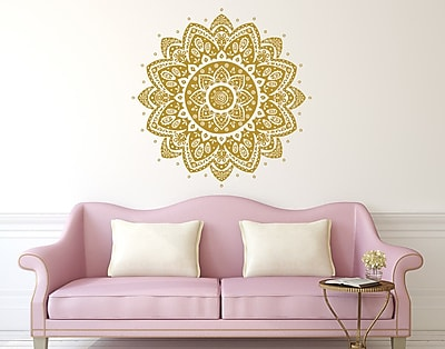 Decal House Mandala Wall Decal; Violet
