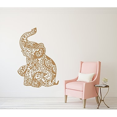 Decal House Elephant Wall Decal; Red