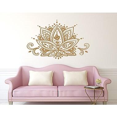 Decal House Mandala Lotus Flower Wall Decal; Yellow