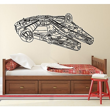 Decal House Millennium Falcon Wall Decal; Light Red