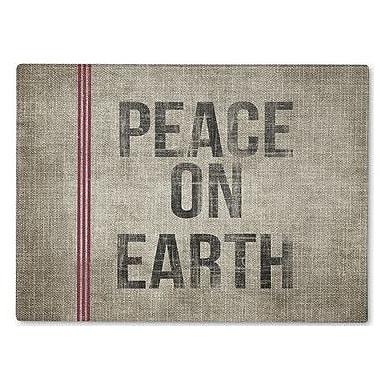 Kavka Peace On Earth Cutting Board; 12'' H x 8'' W x 1'' D