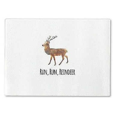 Kavka Run Run Reindeer Cutting Board; 12'' H x 8'' W x 1'' D