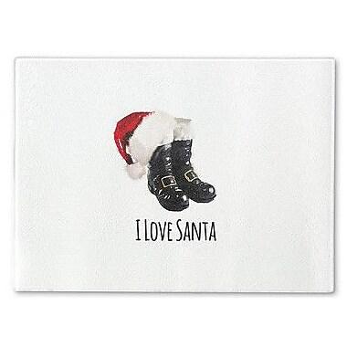 Kavka I Love Santa Cutting Board; 12'' H x 8'' W x 1'' D