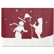 Kavka Snowman Cutting Board; 16'' H x 12'' W x 1'' D