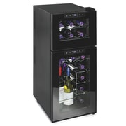 Wine Enthusiast Companies 21 Bottle Silent Series Dual Zone Freestanding Wine Cooler