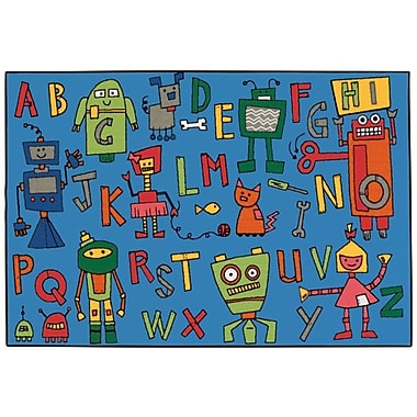 Kids Value Rugs Reading Robots Kids Rug; 4' x 6'
