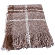 Novica Plaid Boucle Andean Handwoven Throw