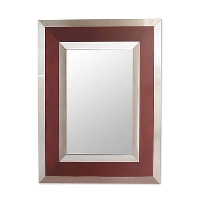 Novica Modern Warmth Modern Andean Framed in Wood and Steel Wall Mirror