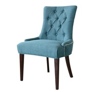 Comfort Pointe Madelyn Tufted Parsons Chair; Ocean