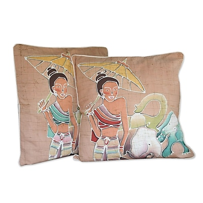 Novica Grace and Power Cotton Pillow Cover (Set of 2)