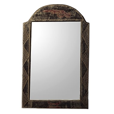 Novica Yaa Asantewaa Artisan Crafted Sese Wood Wall Mirror