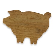 Novica Happy Pig Hand Carved Natural Wood Chopping Board