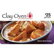 Clay Oven – Carte-cadeau de 25 $