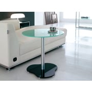 Brassex Accent Table, White Painted Glass (CA121 )