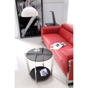Brassex Side Table, Grey Smoked Glass (S103 )