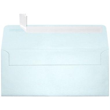 LUX Peel & Press #10 Square Flap Envelopes (4 1/8 x 9 1/2) 250/Box, Aquamarine Metallic (5360-02-250)