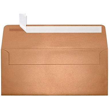 LUX Peel & Press #10 Square Flap Envelopes (4 1/8 x 9 1/2) 1000/Box, Copper Metallic (5360-11-1000)