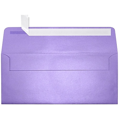 LUX #10 Square Flap Envelopes (4 1/8 x 9 1/2) 50/box, Amethyst Metallic (5360-17-50)