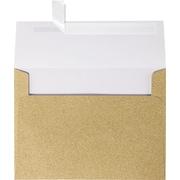 LUX A7 Invitation Envelopes (5 1/4 x 7 1/4) 50/Box, Gold Sparkle (5370-MS02-50)